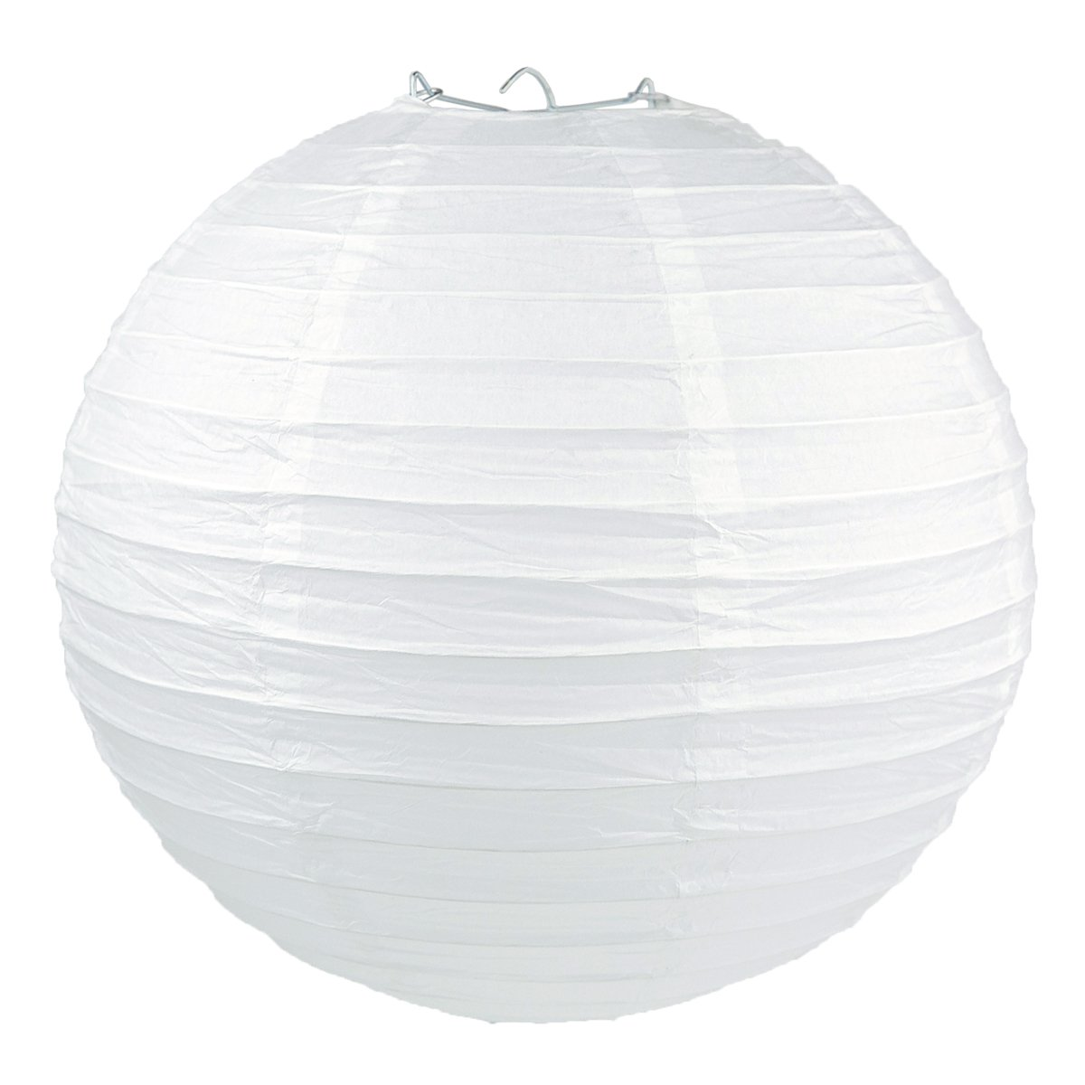 "WYZworks Round Paper Lanterns 10 Pack (White, 12"") - with 8"", 10"", 12"", 14"", 16"" option"