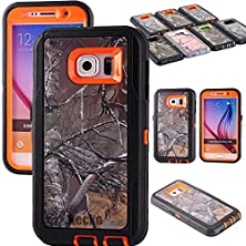 buy For Galaxy S6 Cover, Generic Defender Series Realtrees Camo Shockproof Drop Scratch Resistant Military Grade Hybrid Armor Ful Body Protective Bumper Case Cover W/ Impact Built-In Screen Protector For Girls & Boys For Samsung Galaxy S6 Only(At&T, Verizon,