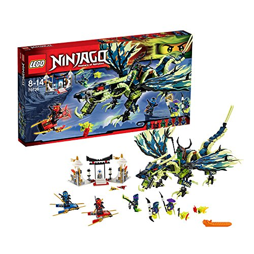 Lego Ninjago - Playthèmes - 70736 - Jeu De Construction - L'attaque Du Dragon Moro