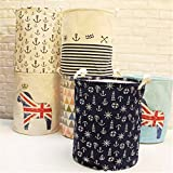 LussoLiv Linen Laundry Hamper Bag Washing Basket Clothes Storage Pouch Collection