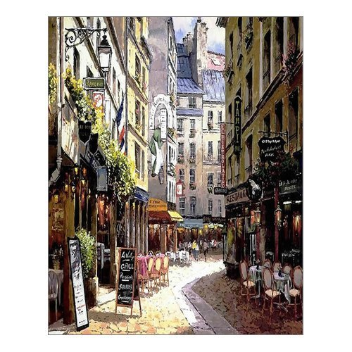 office artwork canvas. Delighful Artwork Beautiful Modern Art Watercolor Painting Rich Retro Small Streets Of Paris  Cafe Canvas Print Wall 16 Throughout Office Artwork