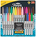Sharpie Fine-Tip Permanent Marker, 24-Pack Assorted Colors