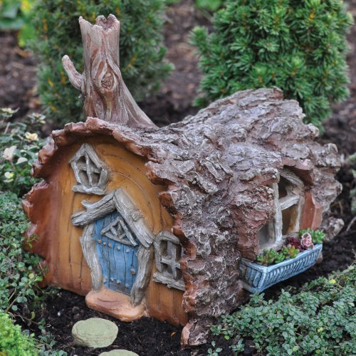 Fairy Gardening Log House Fairy Home by Georgetown Home and Garden
