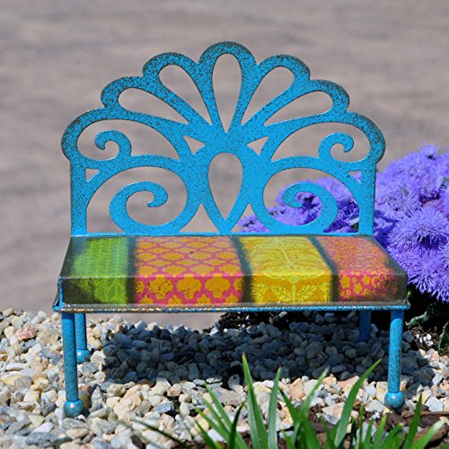 Miniature Fairy Garden Filigree Patterned Bench