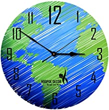 Hoopoe Decor Earth Nice Sketch Trendy Designer Wall Clock