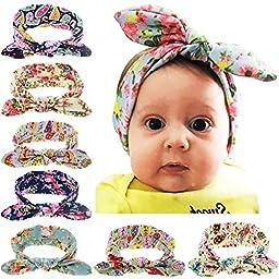 Quest Sweet® Baby Elastic Cloth Rabbit Ears Headdress Girl\'s Soft Turban Headbands