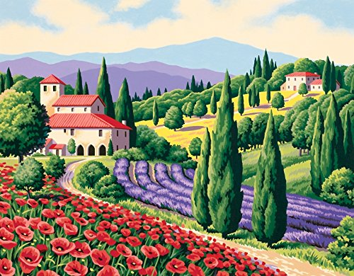 Dimensions Needlecrafts Paintworks Paint By Number, Tuscan Scene front-850084