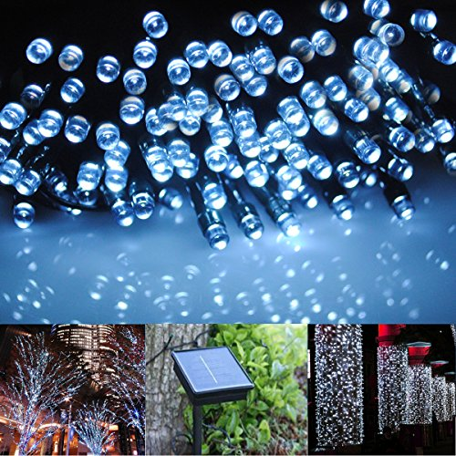 Cvlife 22M 200Led White Solar Christmas String Fairy Lights For Outdoor Room Garden Home Party Decoration Waterproof