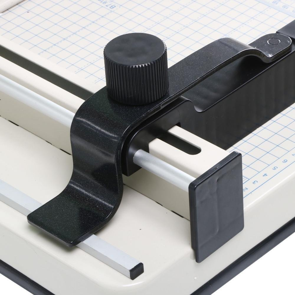 """go2buy 12"""" Guillotine Paper Cutter A4 Trimmer Machine Professional Industrial Heavy Duty W/Metal Base 400 Sheet Large Capacity for Office Commercial Photocopy Printing Shop"""