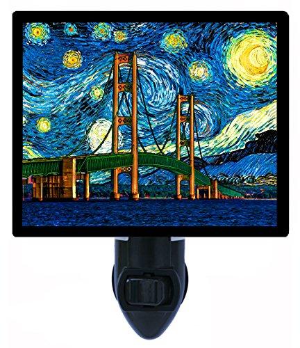 Night Light - Mackinac Bridge Starry Night - Van Gogh - Mackinaw front-182798