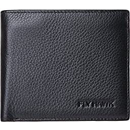 FlyHawk Best Mens Handmade Genuine Leather?Grain Design Leather,Thin/Thick Bifold Wallet Italian 100% Cowhide Style Luxury