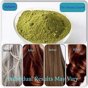 auburn henna hair beard color dye 100
