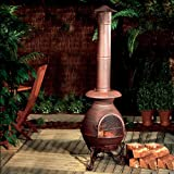 PREMIER BH126659 CAST IRON CHIMENEA BURNER GOLD 86CM X 40CM - image is for illustrative purpose only