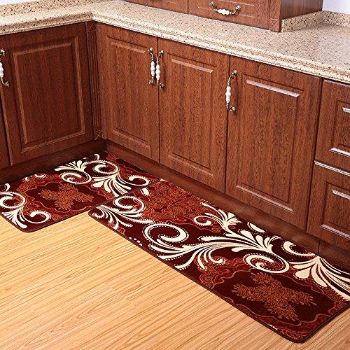 Ustide 2-Piece Coffee Totem Kitchen Rug Set Coral Fleece Bathroom Rug Sets Super Soft Bath Rugs Kitchen Memory Foam Rug Soft Rug Floor Runner Washable Bathroom Rug (Kitchen Rug Set Coffee compare prices)