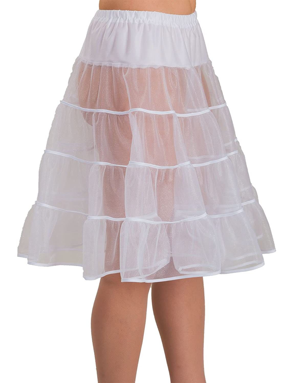 SETRINO Damen Petticoat – Unterrock SOPHIE SWING aus Chiffon knielang weiß (SOPHIE SWING WH) online kaufen