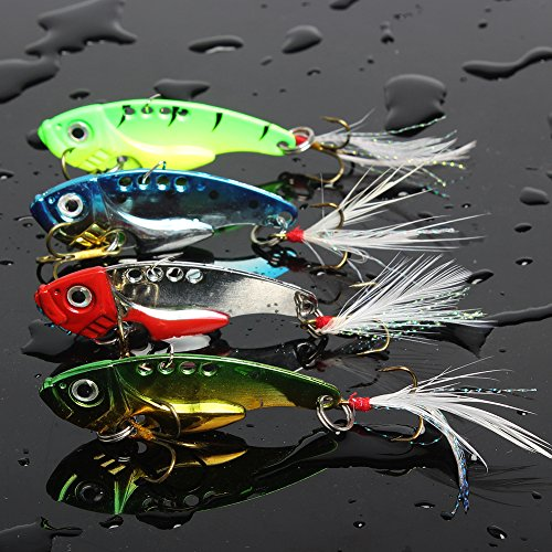 Sougayilang Spinner Spoon Swimbait Freshwater Saltwater Fishing Tackle Lures and Baits Pack of 4pcs (Mix) (Fishing Gear Saltwater compare prices)