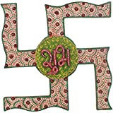 Wooden Handy Crafted Hand Painted SHUB LABH ON SWASTIK Design By Shree Sugandh