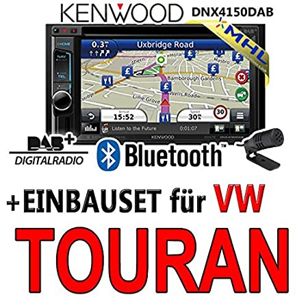 Kenwood pour vW touran dNX4150DAB 2-dIN navigationsradio mHL autoradio dAB uSB avec kit de montage