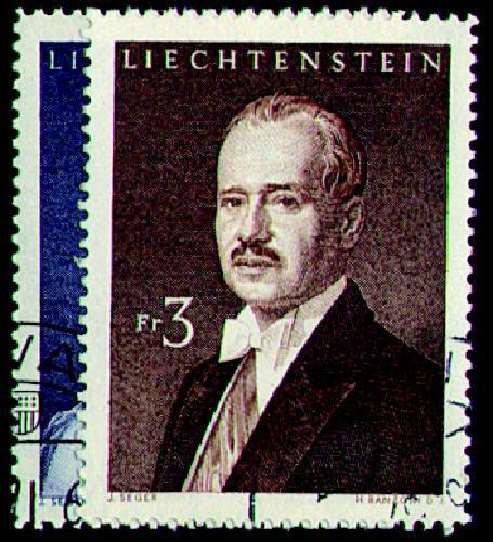 Briefmarken Liechtenstein Nr. 402-403 gestempelt Fürstenpaar 1960