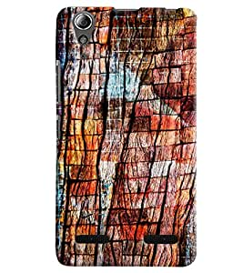 Blue Throat Design Made Of Woods Hard Plastic Printed Back Cover/Case For Lenovo A6000