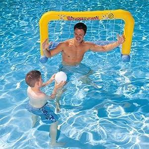 Wasserballtor Tor Aufblasbar Inkl Ball 137cm Wasserballset  Hersteller Bestway