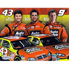 Buy 2009 Kasey Kahne Elliott Sadler Reed Sorenson (Petty Motorsports) Hero Card *3X SIGNED* by Trackside Autographs