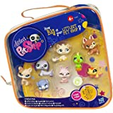 hasbro littlest pet shop POCHETTE DE 8 FIGURINES collector exclusif USA : chien 1362 - chat 1363 - chaton 1364 - iguane gecko 1365 - lapin 1366 - teckel 1367 - hamster 1368 - perroquet 1369