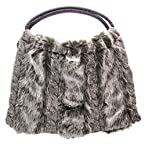 Faux Fur Knit Bag