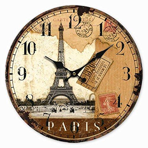 Clock Modern Design Rustic Digital Eiffel Tower Wall Clock Home Decor Classical Wall Clocks