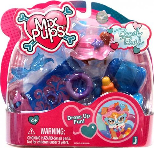 Mix Pups Accessory Dress Up Playset Beach Bash
