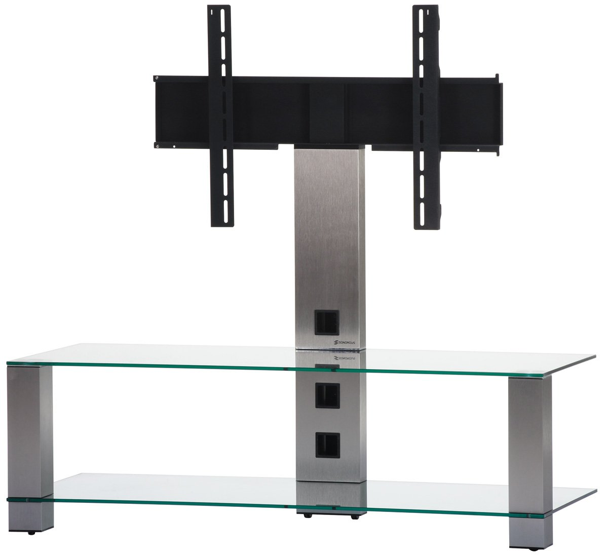 Sonorous PL2400 Clear Glass and Inox Aluminium Stand for TV Sizes upto 42inch       TVCustomer reviews and more information