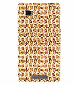 PrintVisa Corporate Print & Pattern Owl 3D Hard Polycarbonate Designer Back Case Cover for Lenovo Vibe Z K910