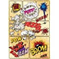 JP London MD3A020 Pow! Sock! Boom! Retro Comic Book Removable Wall Mural at 8.5-Feet Tall by 6-Feet Wide