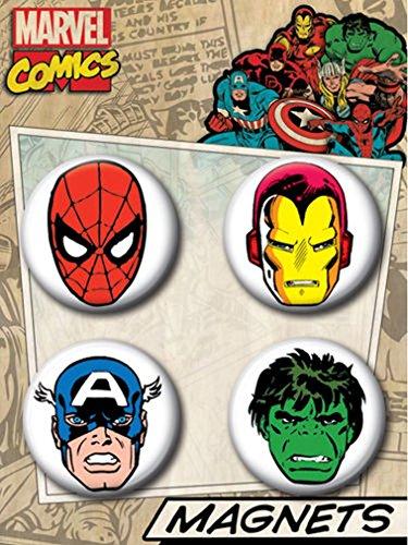 Ata-Boy Marvel Comics Classic Superheroes Button Magnet Set (Marvel Magnets compare prices)