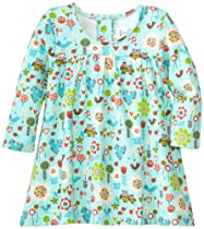 Zutano Baby-Girls Newborn Penny Lane Princess Dress, Aqua, 3 Months