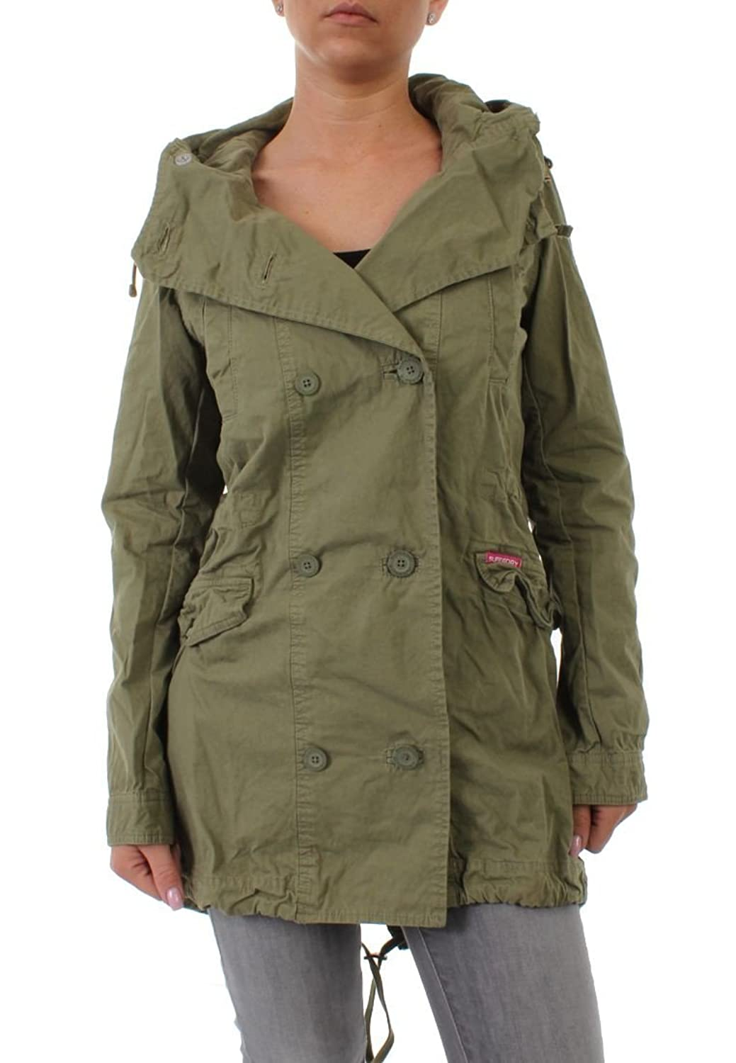 Superdry Parka Women ROOKIE SHAWL PARKA Desert Green