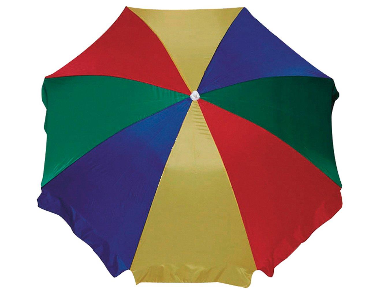 Schirm 180/8t. multicolor Gest. weiss/Nylon bunt günstig kaufen