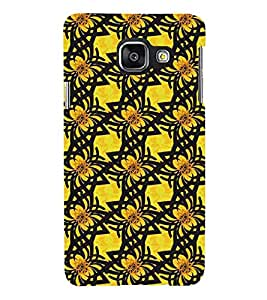 Printvisa Premium Back Cover Yellow And Black Pattern Design For Samsung Galaxy A3 (2016)::Samsung Galaxy A3 (2016) Duos with dual-SIM card slots