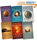 George R. R. Martin A Song of Ice and Fire 6 Books Collection Pack Set RRP: �69.95 (A Feast for Crows, A Storm of Swords: Blood and Gold: , A Storm of Swords: Steel and Snow: Part 1 of, A Clash of Kings, A Game of Thrones, A Dance With Dragons (Hardcover))
