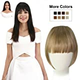 REECHO Fashion One Piece Clip in Hair Bangs/Fringe/Hair Extensions Color Blonde colors #27 & #613 Mixed (Color: 27/613, Tamaño: Full Length Bangs)