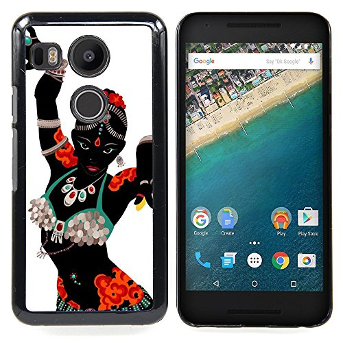 [GIFT CHOICE / Slim Hard Protective Case SmartPhone Shell Cell Phone Cover for LG GOOGLE NEXUS 5X H790 // Indian Dance Woman Costume Attire Art] (Dance Fantastic Costumes)