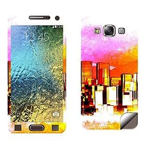 Skintice Designer Mobile Skin Sticker for Samsung Galaxy E500, Design - Cityscape