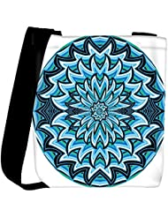 Snoogg Abstract Water Waves Background Vector Illustration Womens Carry Around Cross Body Tote Handbag Sling Bags