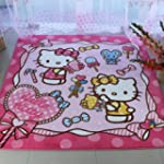Diaidi Cute Hello Kitty Area Rug Pink...