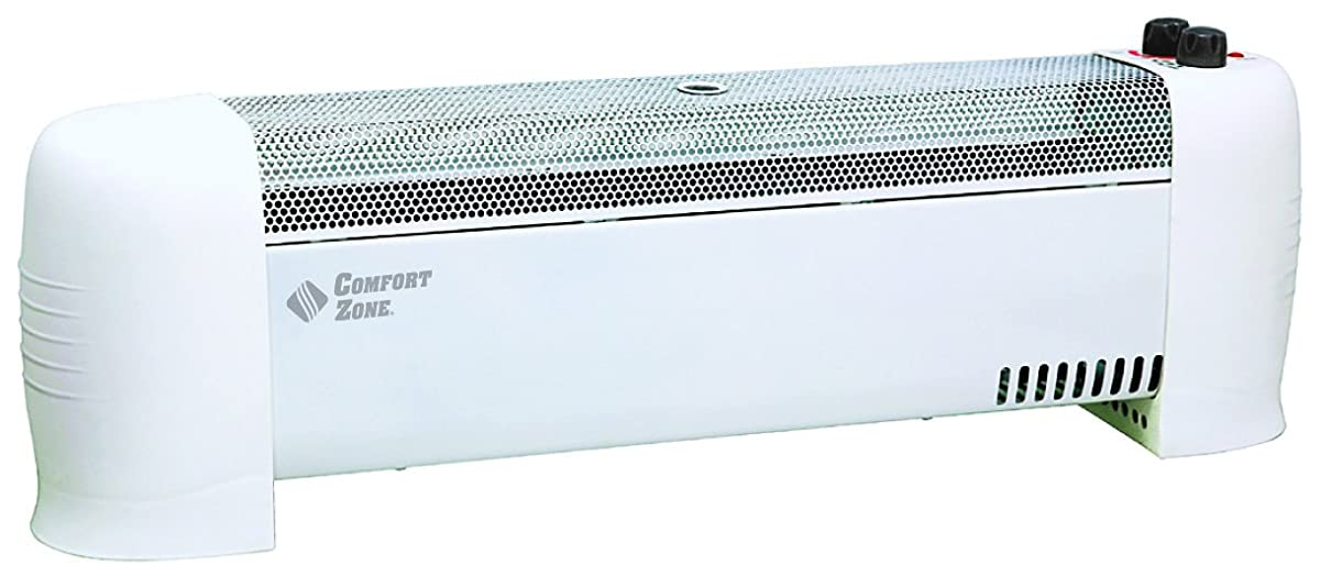 Comfort Zone Low Profile Baseboard Silent Operation Heater CZ600