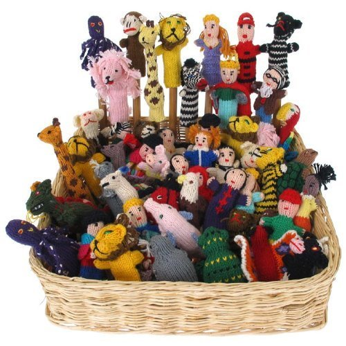Knit-Finger-Puppets-Assortment-Bag-of-25-Free-Worldwide-Global-Shipping