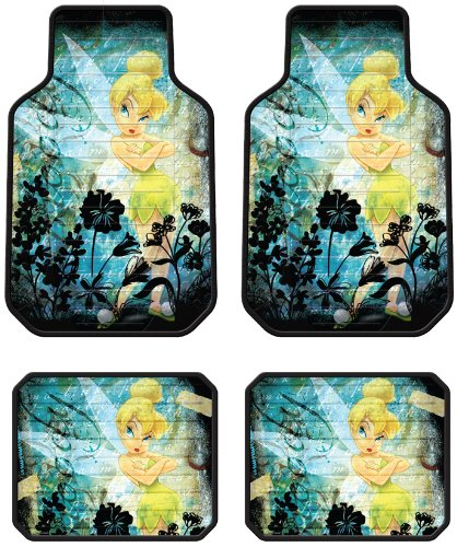 Tinker Bell Moody Disney Front & Rear Car Truck SUV Seat Rubber Floor Mats (Tinkerbell Car Floor Mats compare prices)