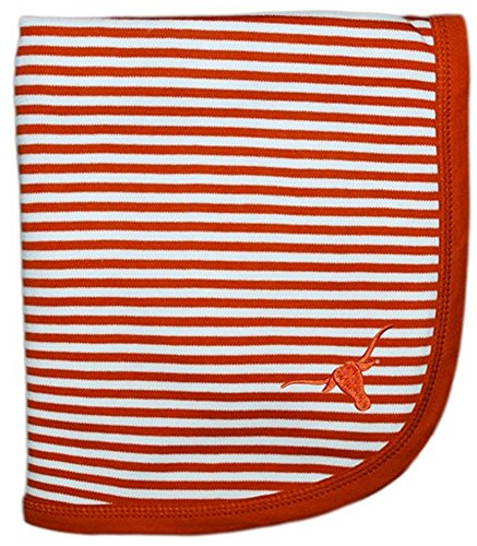 "Texas Longhorns NCAA College Newborn Infant Baby Blanket 33"" x 36"" - 1"