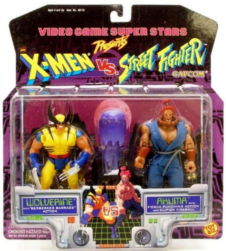 Picture of Toy Biz X-Men vs. Street Fighter Wolverine vs. Akuma Action Figure Set (B0012G0A5G) (X-Men Action Figures)