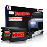 XtremeVision 55W AC Xenon HID Lights with Premium Slim AC Ballast 30K Deep Blue 2 Year Warranty 5202//12086 30000K